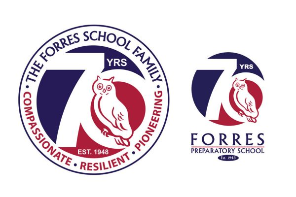 FORRES PREPARATORY 70th Anniversary Logo