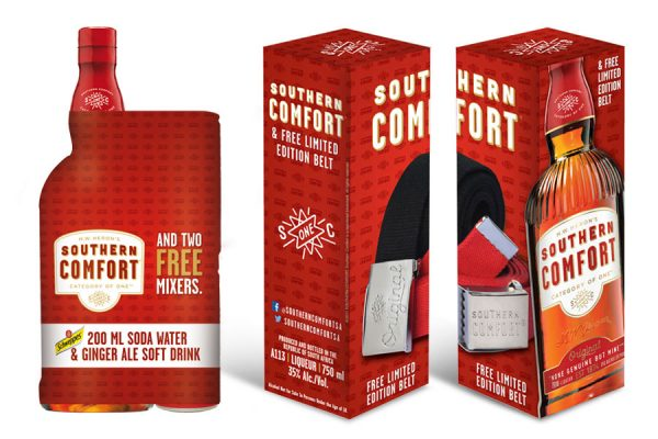 SOUTHERN COMFORT - Packaging Design - Shrink Wrap & Gift in Box